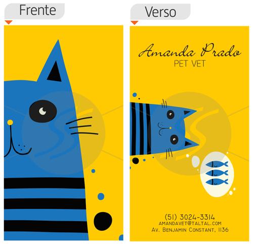 cartoes de visita veterinarios 09 - 15 lindos Cartões de Visita de Veterinários