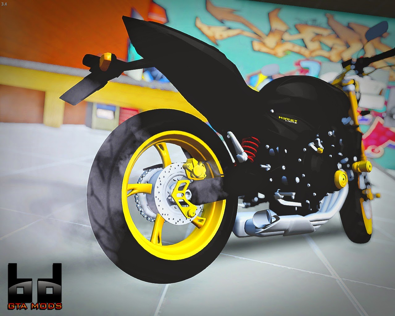 GTA SA - Honda Hornet Black Night do Gleydson Motovlog