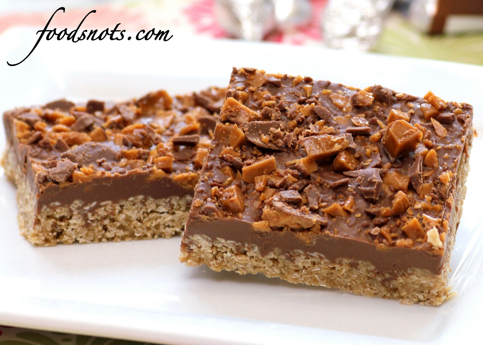 Recipe Snobs: Chocolate Oatmeal Bars