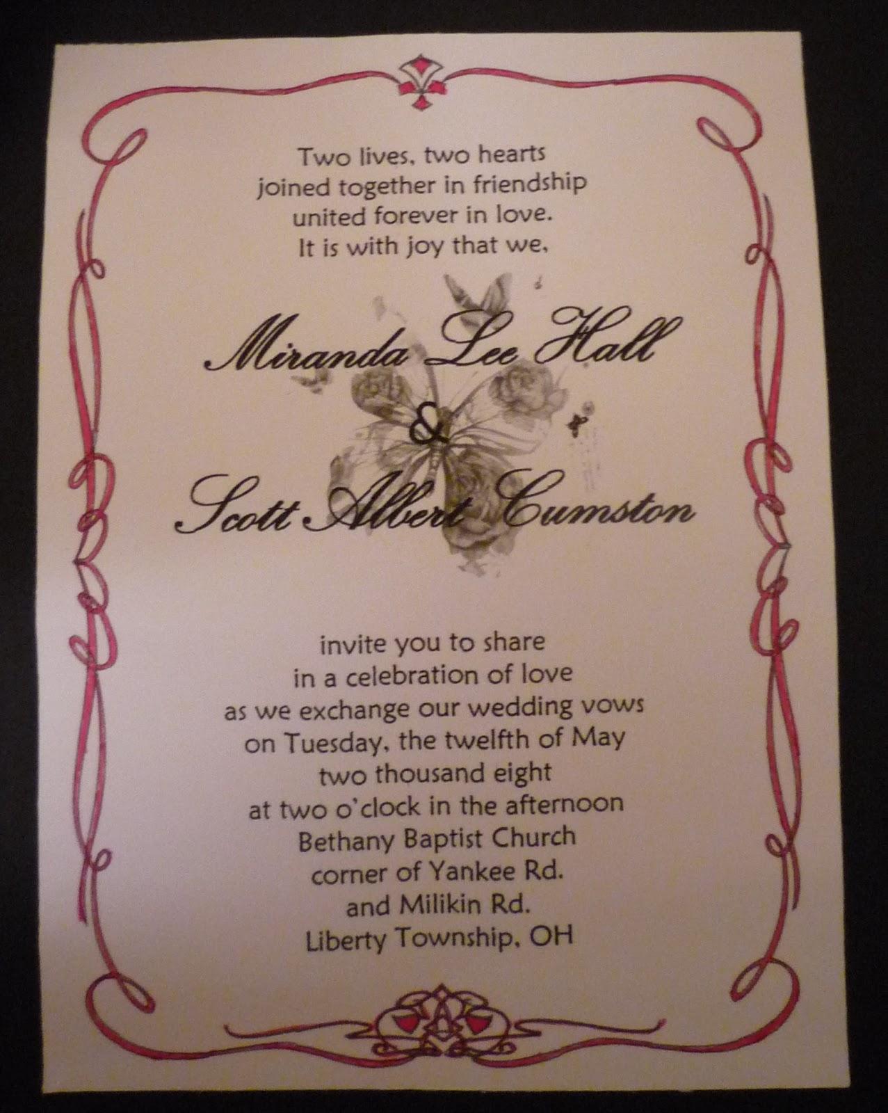 Crafting on the cheap wedding invitation stopboris Gallery