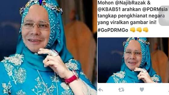 Penyebar Gambar Najib Razak Menyerupai Datuk Seri Vida Dicari