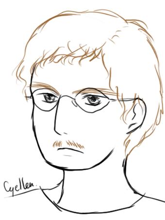 portrait manga peu ressemblant de Guillaume Long