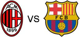 image video ac milan vs barcelona