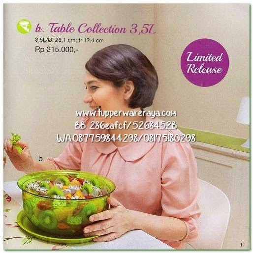 Tupperware Promo April 2015 Table Collection