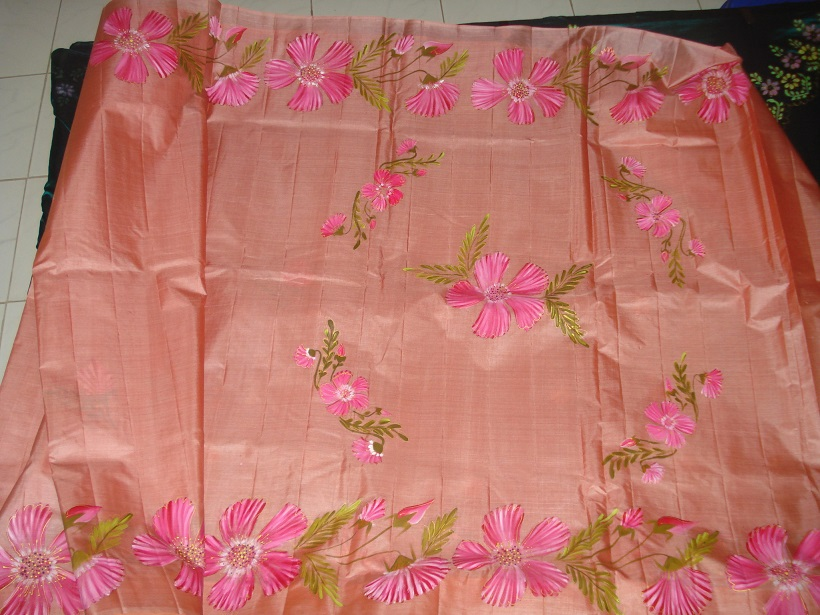 Free Hand Painting Designs On Sarees