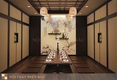 Thiết kế nội thất nhà hàng Nhật Bản cao cấp, sang trọng7