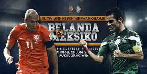 Perkiraan Hasil Akhir Pertandingan Fase Perdelapan Final Piala Dunia (29/06/14) : Belanda Vs Meksiko