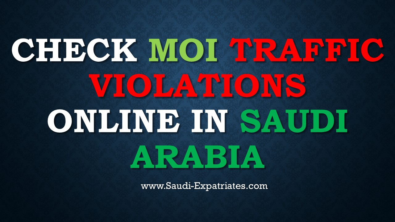 Check moi traffic violations in ksa