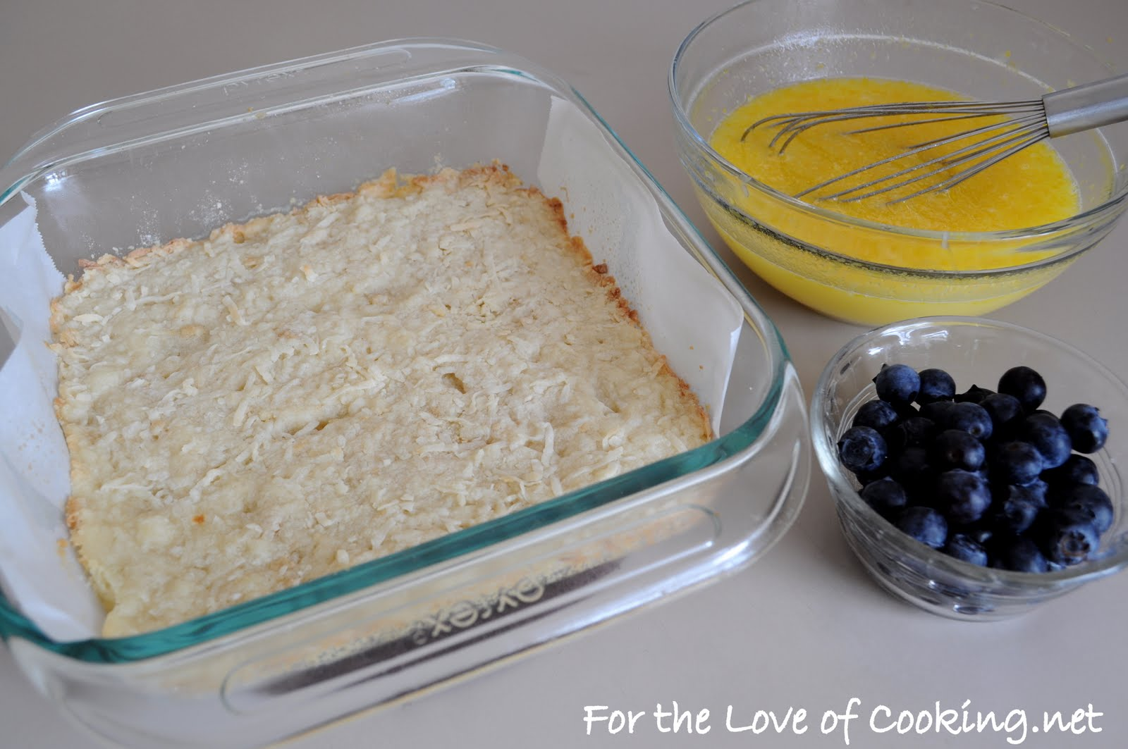 Lemon and Blueberry Bars with a Coconut Crust | For the Love of ...