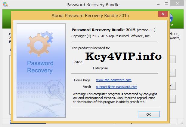 Password Recovery Bundle 2015 Enterprise v3.5 Full Key,Phần mềm phục hồi mật khẩu và Key số 1