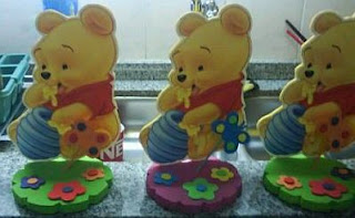 Decoracion de Fiestas Infantiles, Winnie Pooh, Centros de Mesa