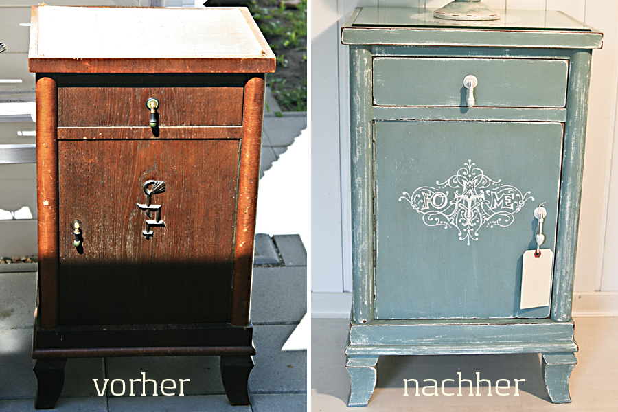 blog antiker nachtschrank vorher und nachher. Black Bedroom Furniture Sets. Home Design Ideas