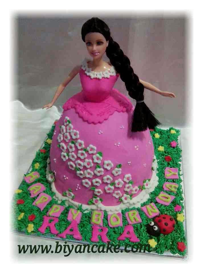 Barbie cake pink ~ Rara