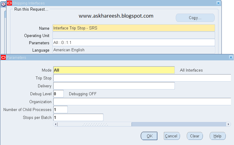 Interface Trip Stop – SRS Program Uses, askhareesh blog for Oracle Apps