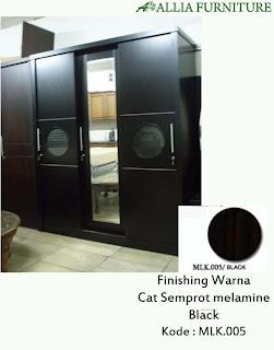 Contoh Furniture Semprot Melamine Black