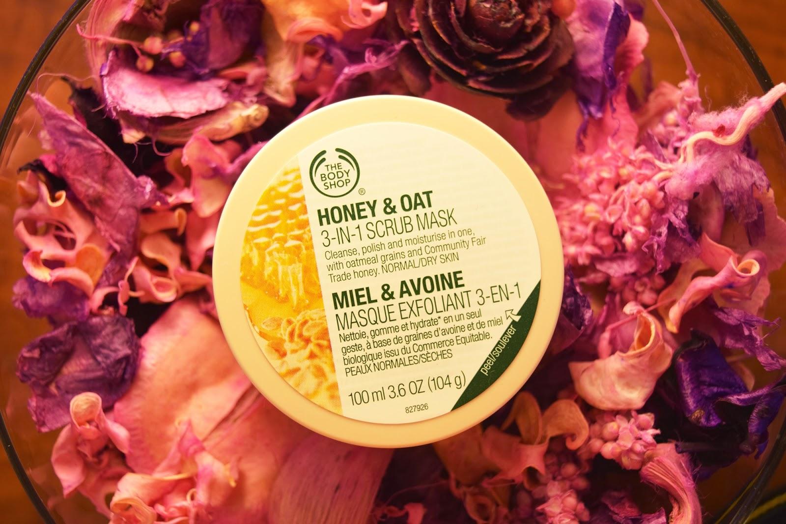Honey & Oat 3-in-1 Scrub Mask The Body Shop