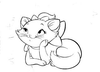 """""""desenho para pintar a gata marie"""""""