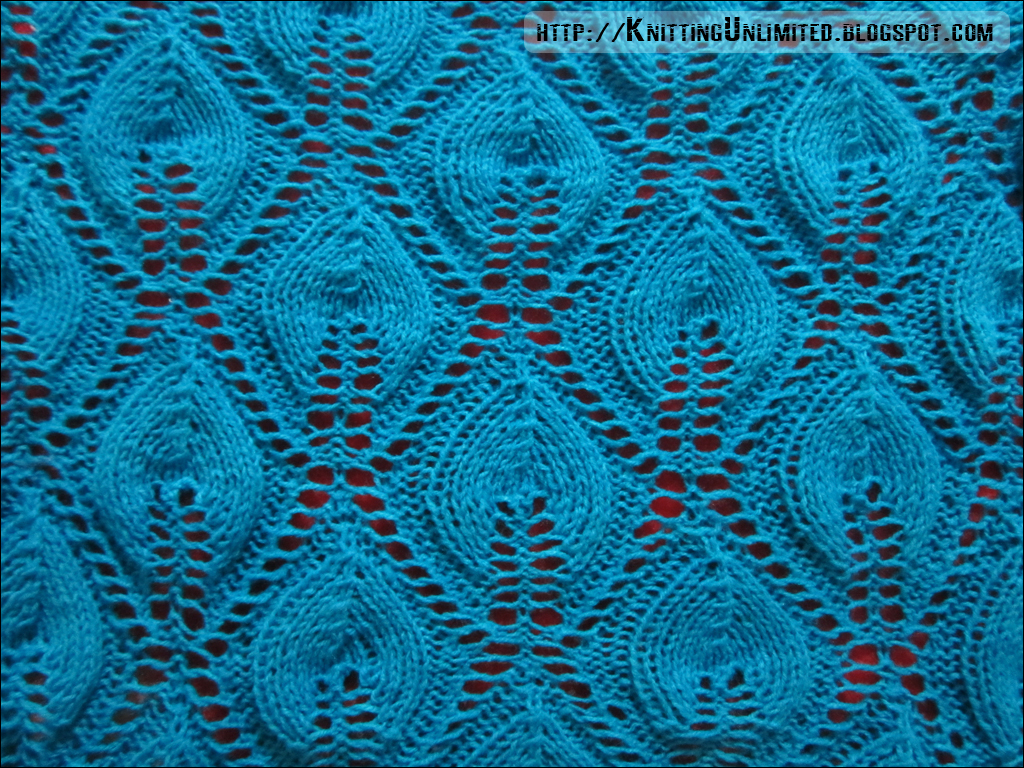 Lace Knitting Stitch Patterns : Lace Knitting Pattern 8: Candle Flame - Knitting Unlimited