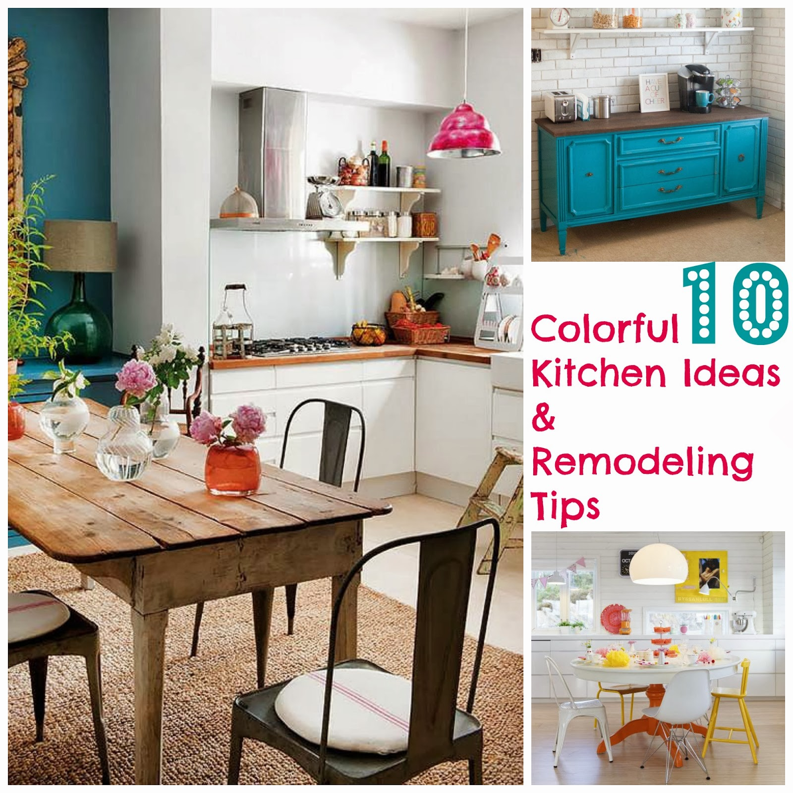 10 Awesome Kitchen Makeovers: The Sweetest Memory: 10 Colorful Kitchen Ideas