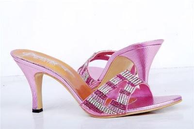 Superb Metro Shoes Bridal Pink Heel Shoes 2013-14