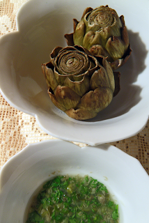 Artichokes and Ravigote Sauce