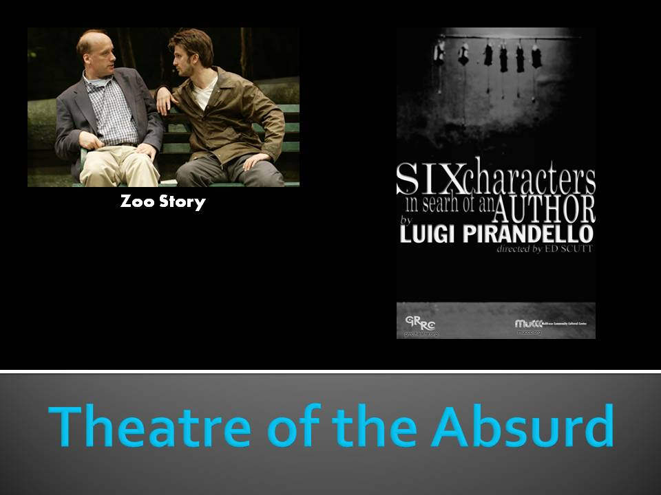 theater of the absurd essay 1, the theatre of the absurd is anti-traditional theater genre which rose in france 1950s in 1950, french playwright enescu s the bald soprano.