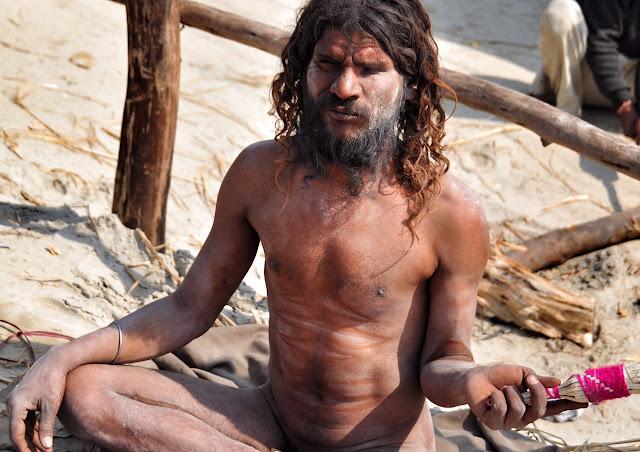 Kumbh mela 2013 ganga allahabad naga baba naked indian man male