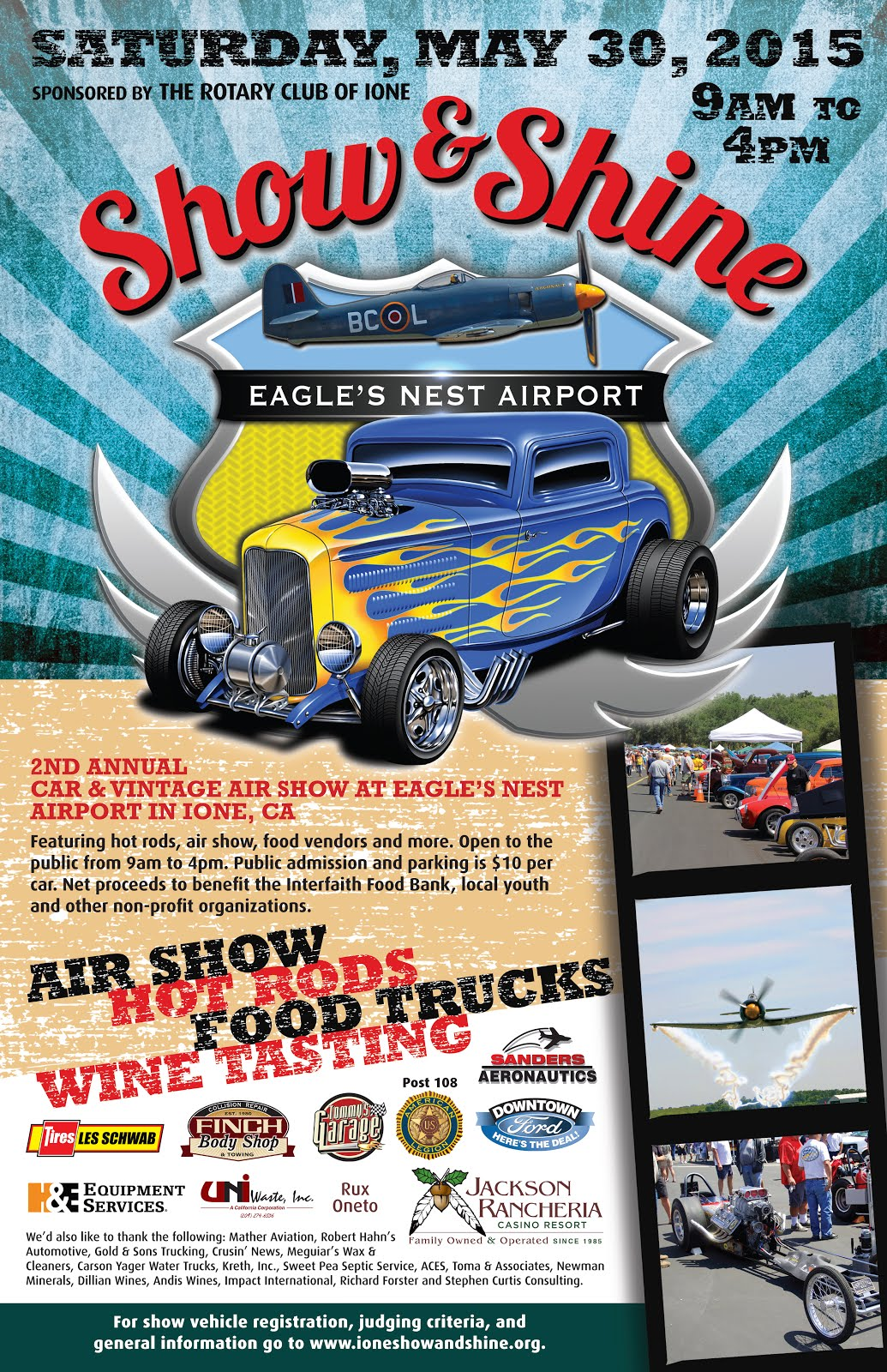 Ione Show & Shine Car & Vintage Airshow - Sat May 30