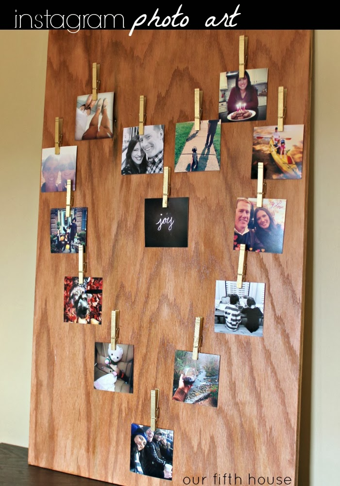 diy instagram photo art display