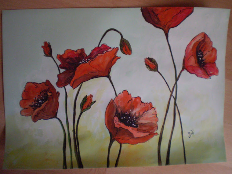 Poppies PA8, watercolor, signed Joli, A4