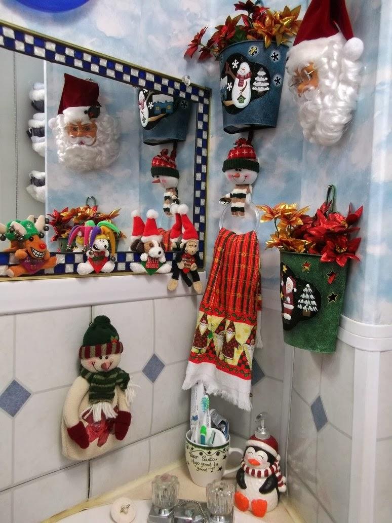 Baño Navideno Navidad: de baño con simples adornos de Navidad, manualidades hechas en tela
