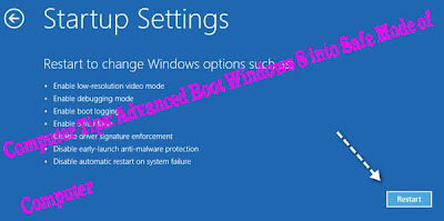 Computer Tips: Advanced Boot Windows 8 into Safe Mode for Computer