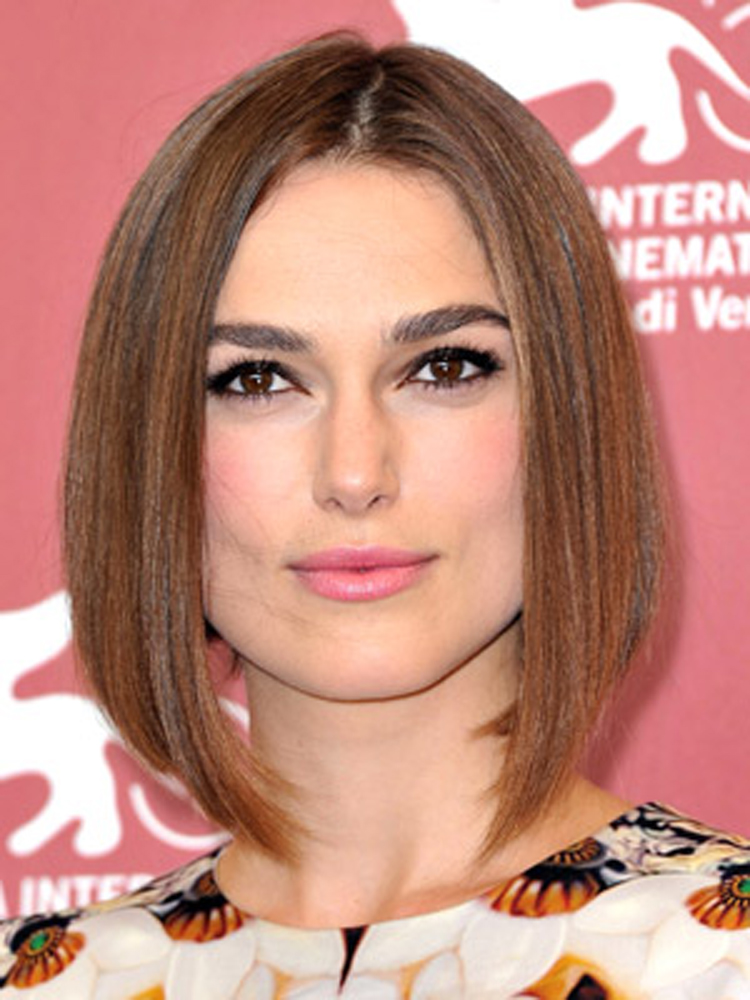 Celebrity Bob Hairstyles Keira Knightley