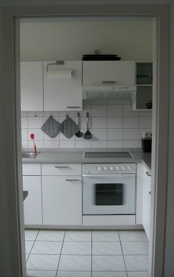Our apartment's little German kitchen