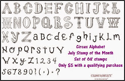 July 2014 Stamp of the Month~Circus Alphabet