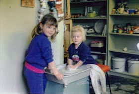 My children Sarah and Alison - many years ago