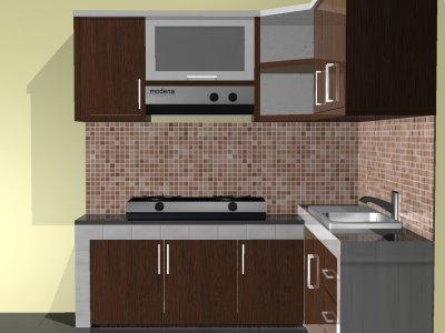 Barang yang biasa ada di dapur dapur minimalis dengan nuansa coklat