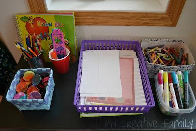 Creative family fun art writing corner - Writing corner ideas ...