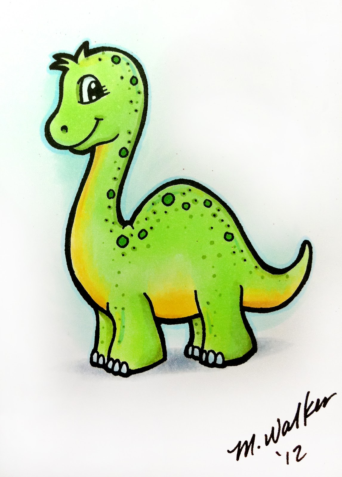 I Like Markers: Quick Dinosaur sketch