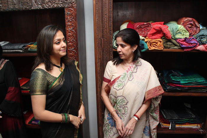 jyothika launches lakshmi sarees latest photos