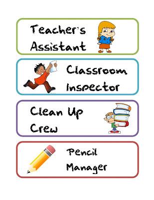 That s what the teacher said quot freebie classroom job labels