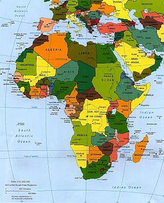Afrique Carte Monde Avec Pays