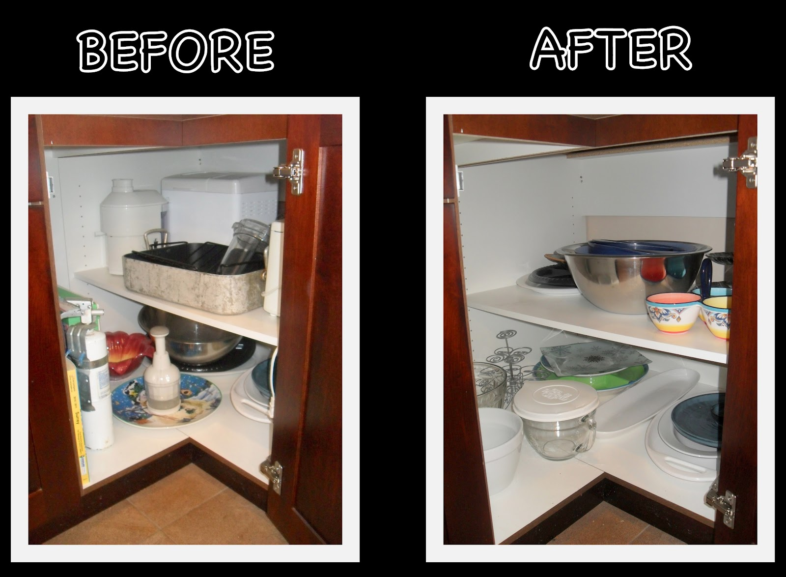 Organizing Corner Kitchen Cabinets