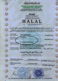 Sijil Halal Majlis Ulama Indonesia