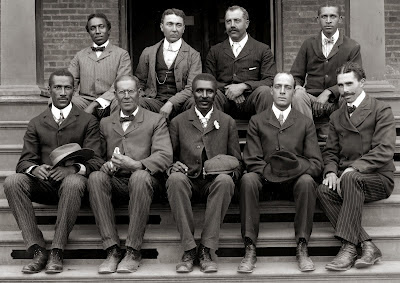 George Washington Carver and staff members at the Tuskegee Institute