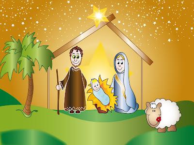 Ilustración del Nacimiento del Niño Jesús para Navidad