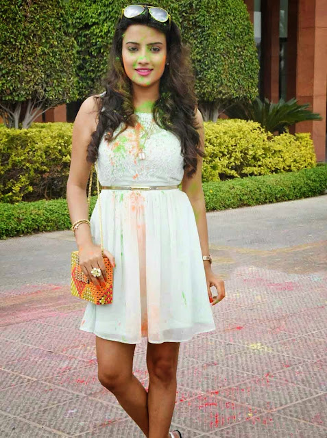 Jyoti Seth Stills at Holi Celebrations Photos in Novotel
