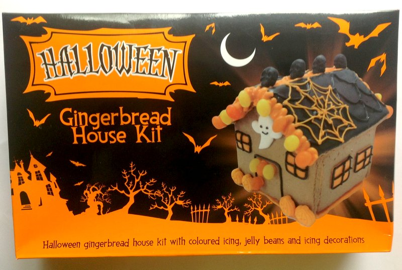halloween gingerbread house kit asda