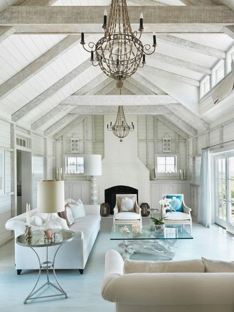 fresh white living room