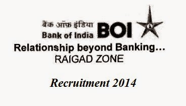 Bank Of Indian Raigad Recruitment 2014